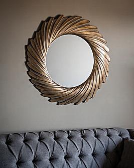 Gallery Lowry Mirror Gold Verdigree