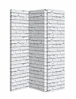 Arthouse White Brick Room Divider