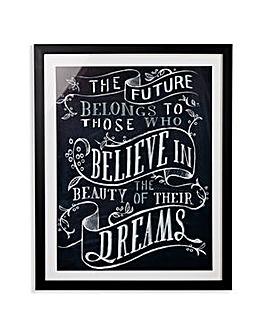 Arthouse Believe Framed Print
