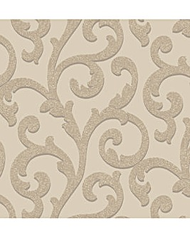 Arthouse Glitterati Scroll Wallpaper