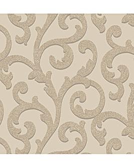 Arthouse Glitterati Scroll Wallpaper