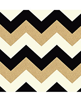 Arthouse Glitterati Chevron Wallpaper