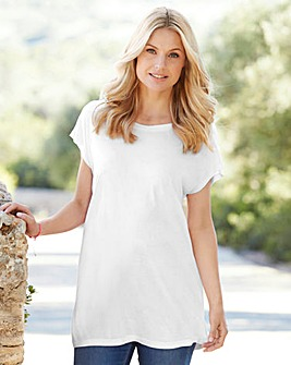 White Viscose Boyfriend T-shirt
