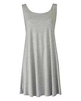 Grey Marl Sleeveless Swing Tunic