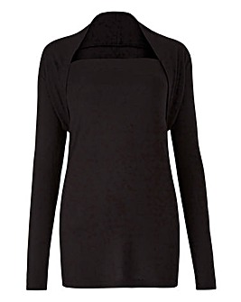 Black Shawl Collar Top