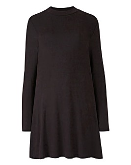 Black Turtleneck Swing Tunic