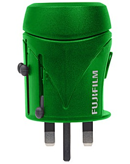 World Adapter + USB- Green