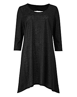 Black Jacquard Tunic