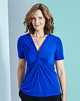 Cobalt Twist Knot Jersey Top