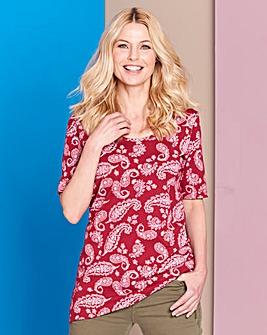 Paisley Print Jersey Tunic