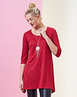 Red Jacquard Tunic