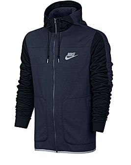 Nike Advance Full Zip Contrast Hoody Reg