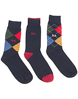 Pringle Pack of 3 Argyle Socks