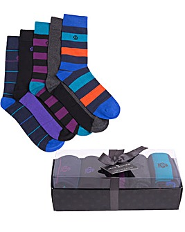 Jeff Banks Pack of 5 Socks Gift Box