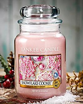 Yankee Snowflake Cookie Large Candle Jar