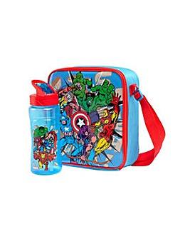 Avengers Lunch Bag and Bottle Set.