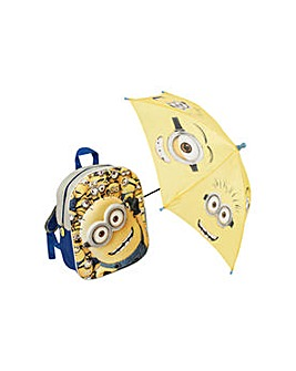 Minions Backpack and Umbrella.