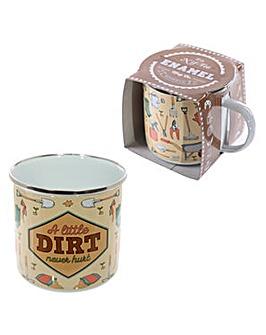 Fun Enamel Mug A Little Dirt Never Hurt