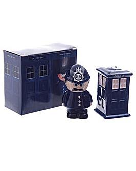 Police Box & Policeman Salt & Pepper Set