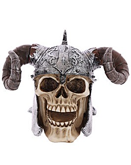 Gothic Skull Decoration Horn Helmet