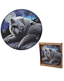 Guardian Wolf Decorative Wall Clock