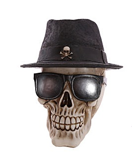 Gothic Skull Decoration Trilby Hat
