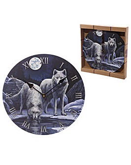 Wolf Warriors of Winter Wall Clock