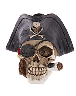 Gothic Pirate Skull with Cigar