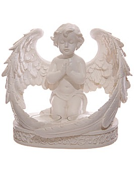 Decorative Cherub Double Votive Candle