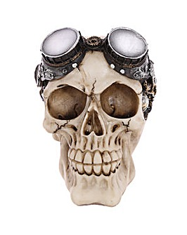 Gothic Steam Punk Skull with Goggles