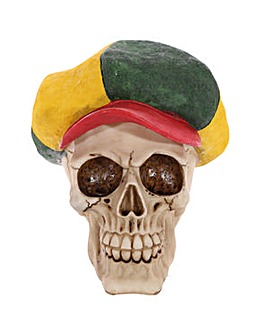 Gothic Skull Decoration Rasta Hat