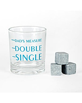Dad Whiskey Glass and Stones