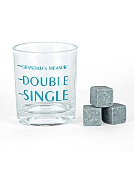Grandad Whiskey Glass and Stones