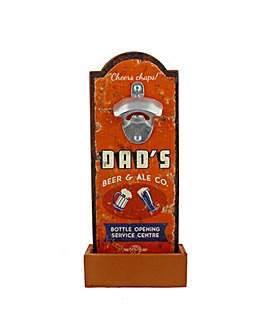 Dad Wall Plaque with Bottle Opener