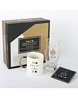 Dad Mug, Glass and Coaster Gift Set