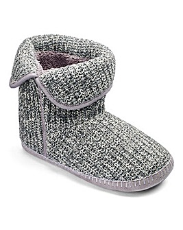 Trustyle Cable Knit Boot Slippers