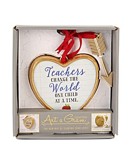 Heart Shape Teacher Plaque