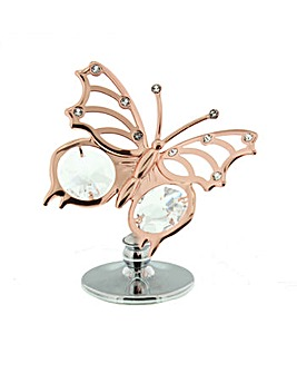 Crystocraft Metal Rose Colour Butterfly