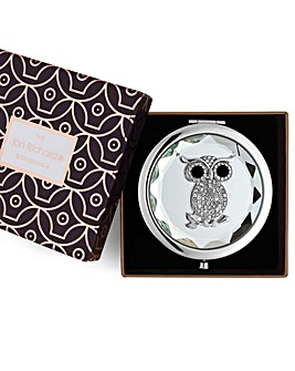 Jon Richard crystal owl compact mirror