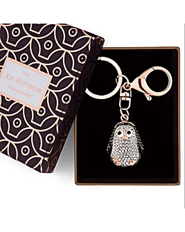 Jon Richard crystal penguin keyring
