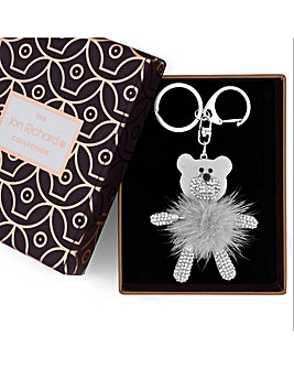 Jon Richard fluffy bear keyring