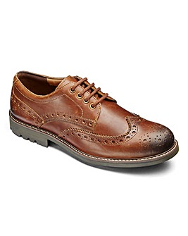 Leather Brogue Extra Wide Fit