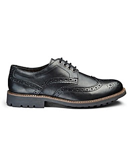 Leather Cleated Brogue Standard Fit