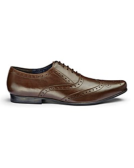 Trustyle Leather Brogues Extra Wide Fit