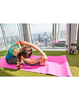 Yoga Class at the Top of The Shard