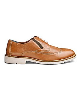 Lightweight Elastic Gusset Brogue