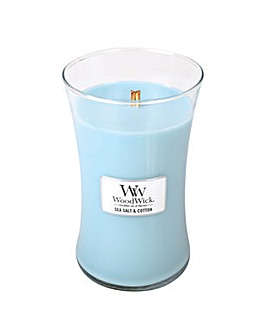 Woodwick - Sea Salt & Cotton Large