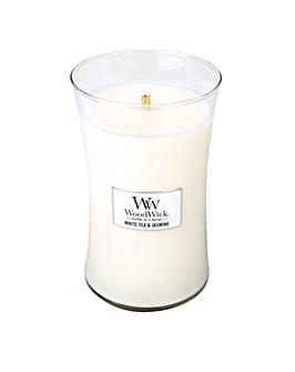 Woodwick - White Tea & Jasmine   Large