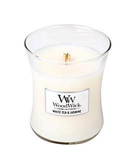 Woodwick - White Tea & Jasmine     Med