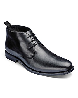 Formal Lace Up Derby Boot Extra Wide Fit